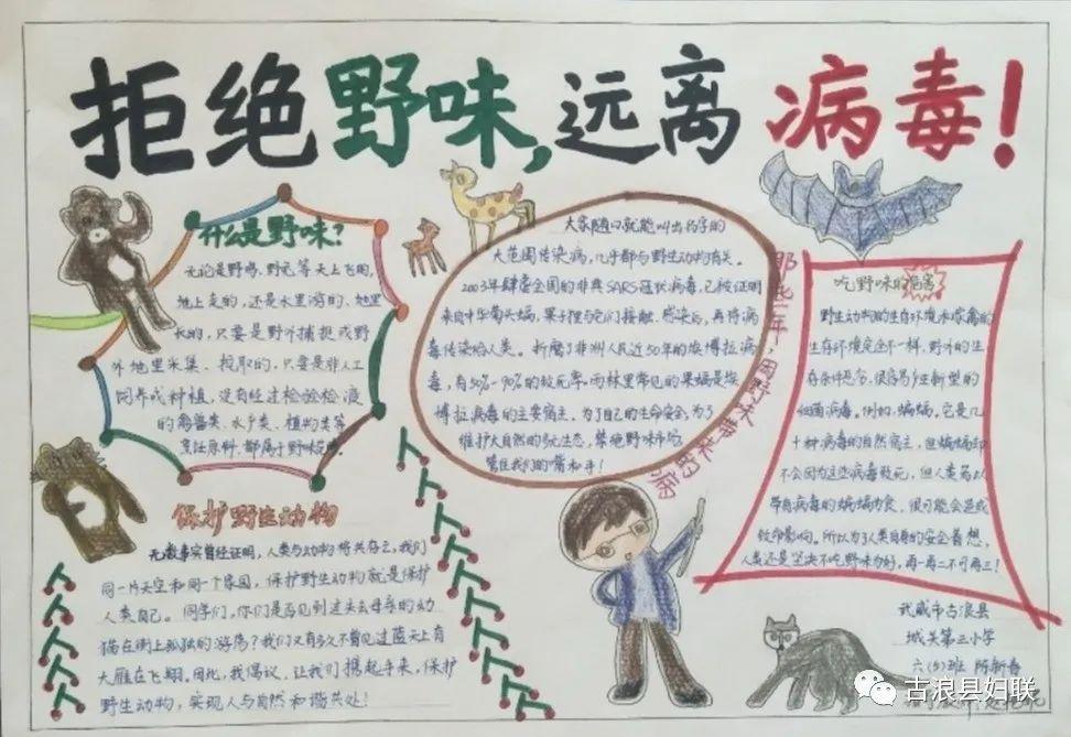 """""""致敬疫情期间最美一刻""""网络大赛手抄报获奖作品展"""