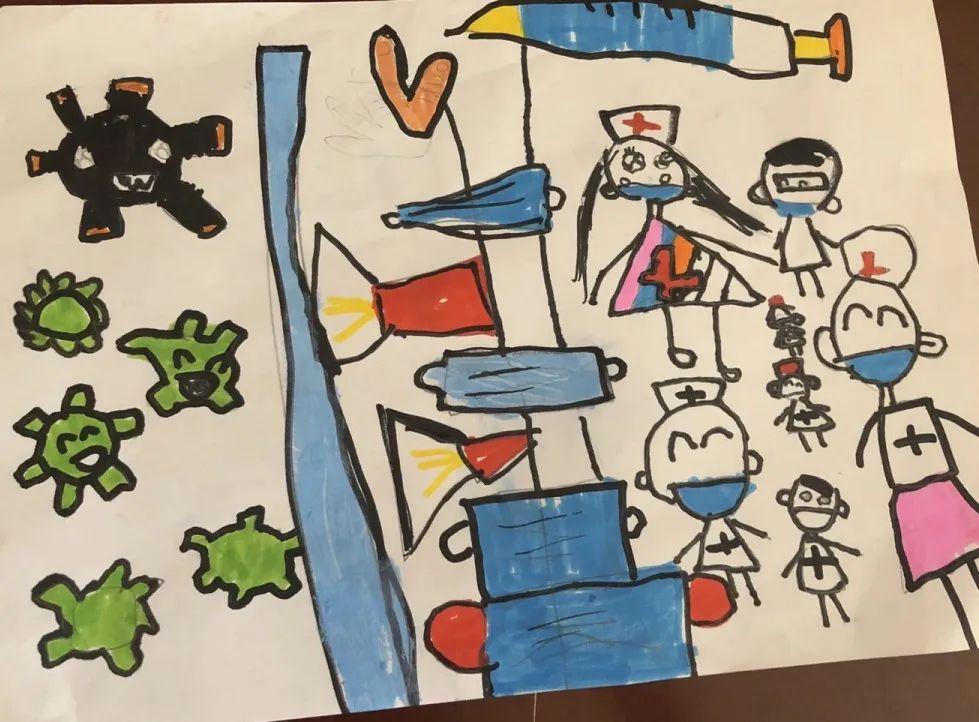 5岁 医生白衣天使打败病毒图片