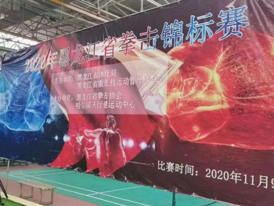 我市运动员在黑龙江省拳
