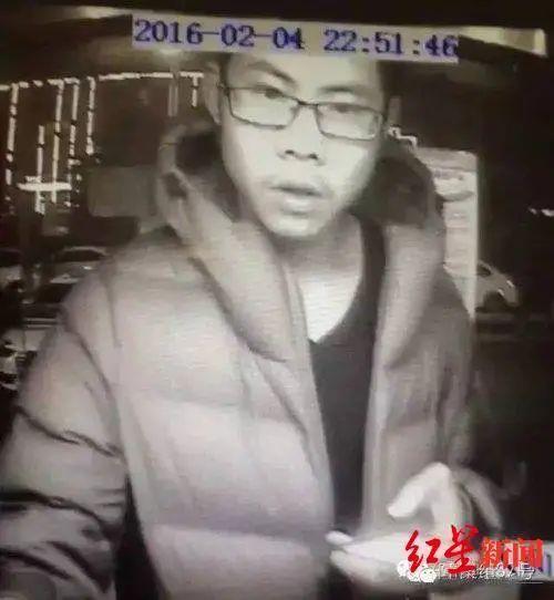 ↑吴谢宇2016年2月4日被拍到曾在河南某处ATM机取钱