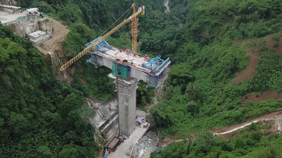 ▲建设中的印尼雅万高铁
