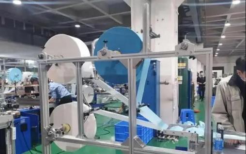 中南机械生产的全自动口罩机