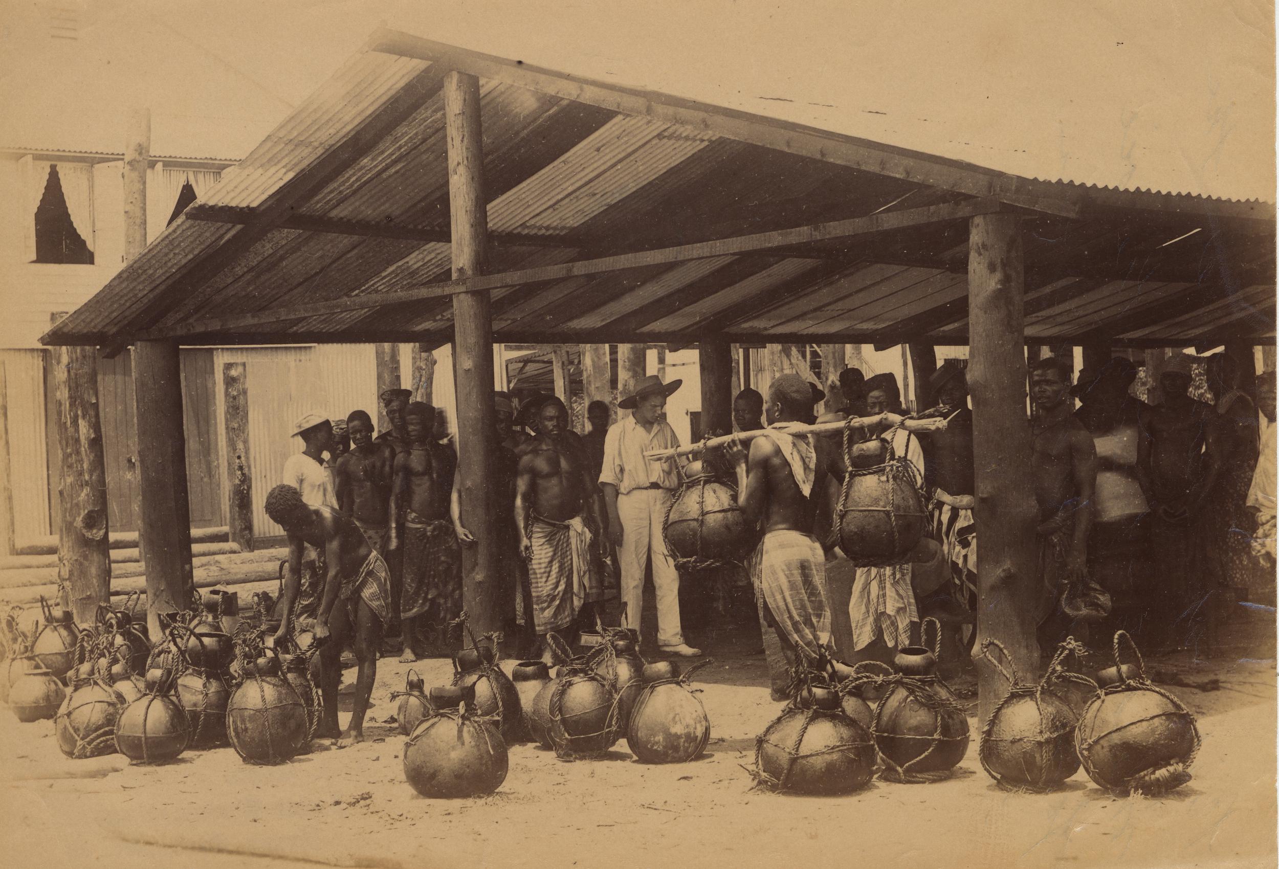 今天尼日尔三角洲地区的棕油河地区曾是西非棕榈油贸易的中心地带。图片版权 ©Jonathan Adagogo Green/大英博物馆托管会,CC BY NC SA)