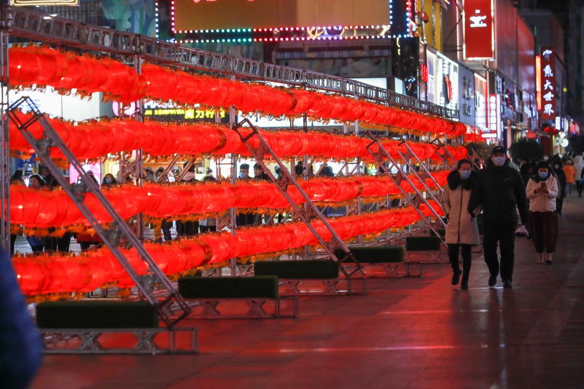 台东步行街的灯笼