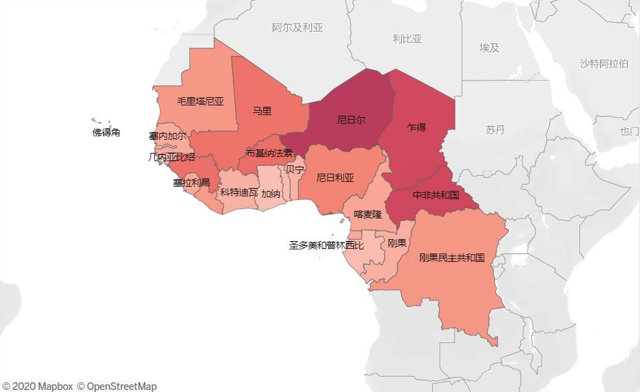 图3:非洲部分国家童婚率