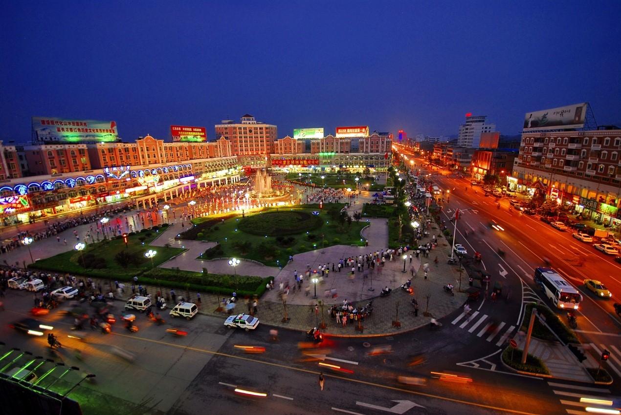 瑞金市红都广场夜景图