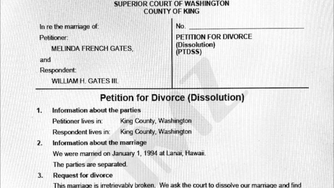 核查   盖茨夫妇签过分割财产的婚前协议?