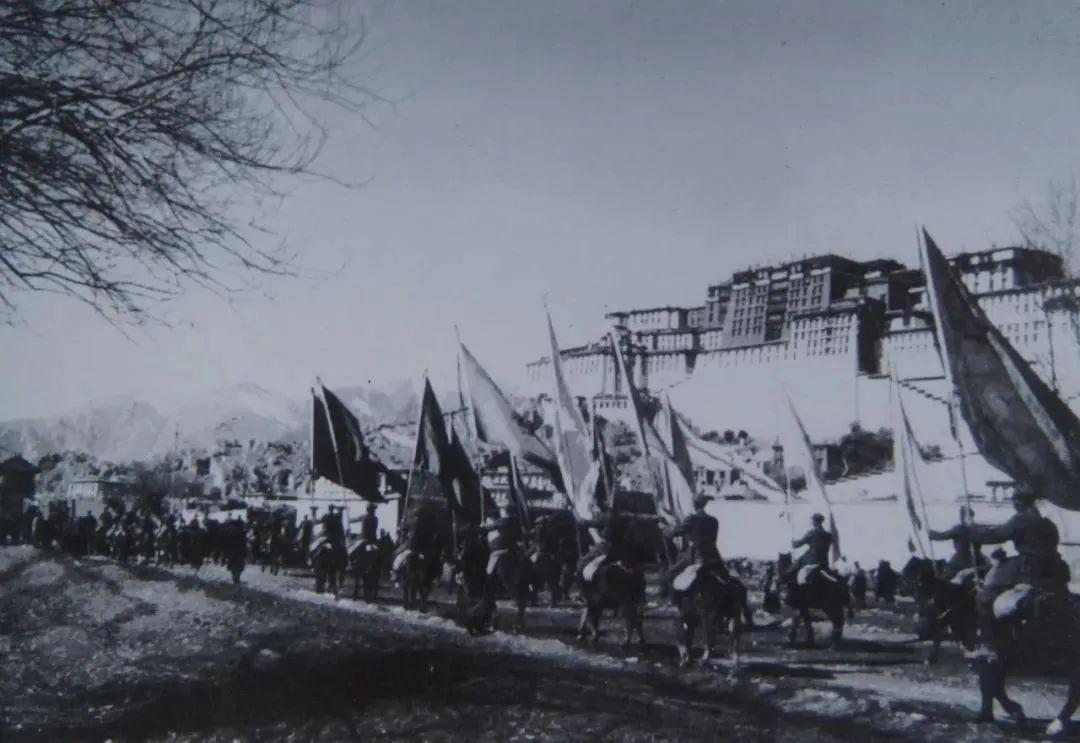 十八军进拉萨——图源西藏之声