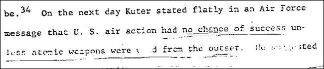 埃尔斯伯格公布的五角大楼文件截图(下同)