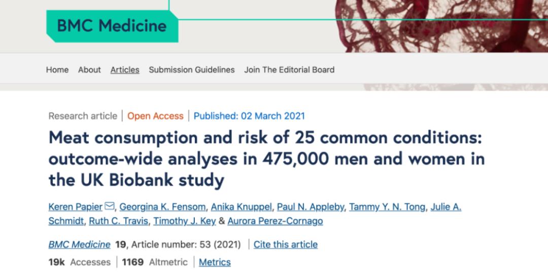 还在无肉不欢?近50万人研究证实:吃太多肉与25种常见病有关!