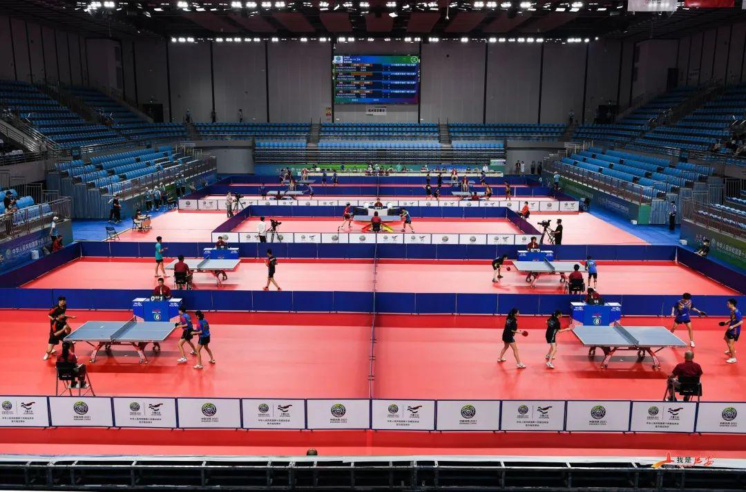 十四运会乒乓球项目测试赛开赛