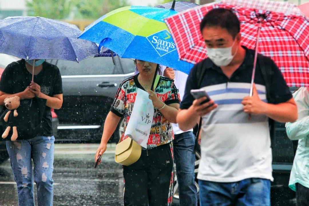 雨中的沈阳。辽沈晚报记者 王迪 摄
