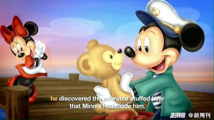 达菲熊是米妮送给米奇的玩偶。/动画截图