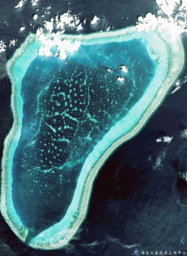 △(黄岩岛,资源三号卫星拍摄)