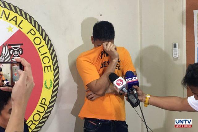 2019年12月10日,菲律宾警方逮捕了一名绑架了两名中国人的菲律宾保安。图源:UNTV