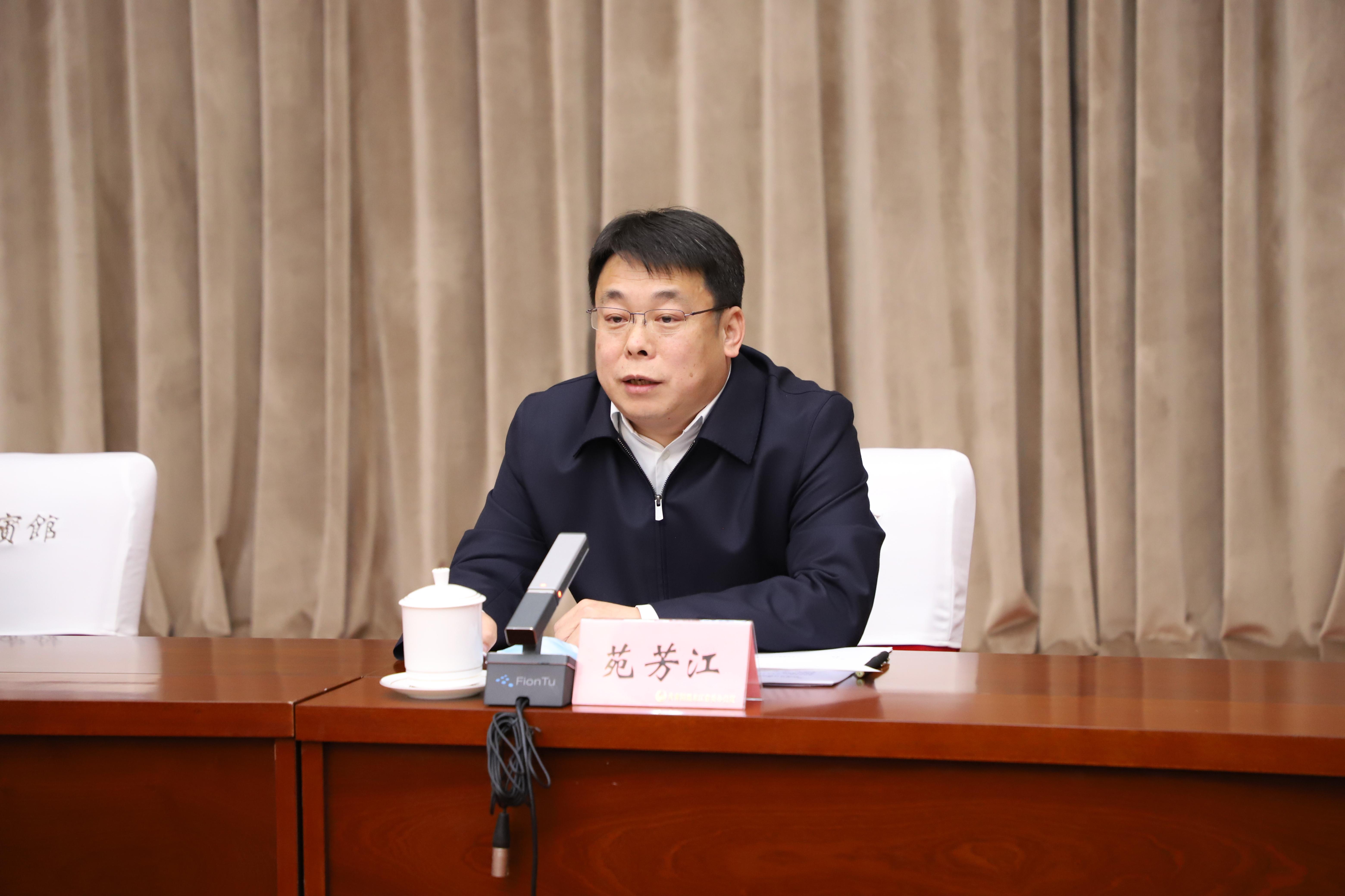 黑龙江团省委书记苑芳江在座谈会上发表讲话摄影 吕岩