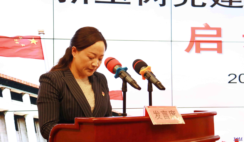 参会代表、玉树市委组织部副部长白玛措毛发言
