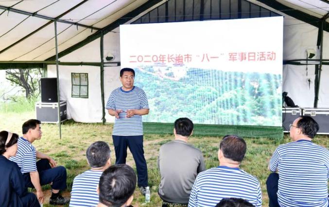 传承红色基因丨长治市党政军领导参加军事日活动