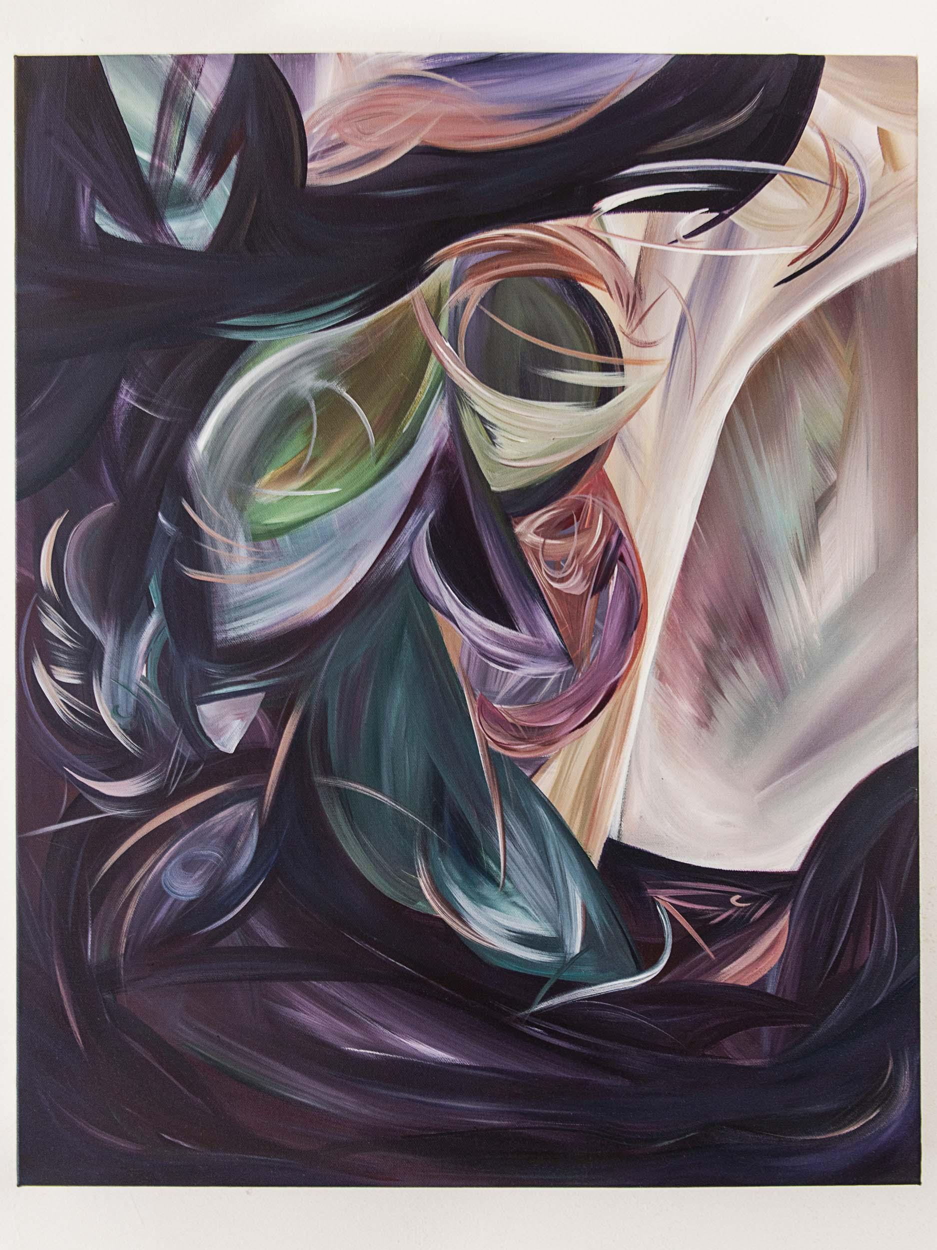 Gaping, Vanishing/切割,消逝, 2020,acrylic on canvas,28x22 inches
