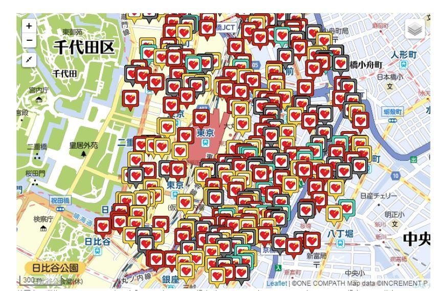 日本全国AED地图