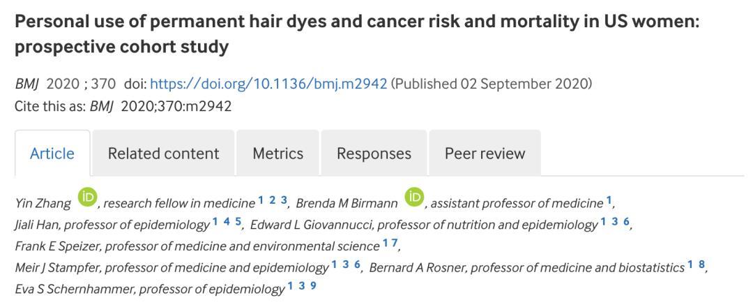 BMJ:长期染发致不致癌终于有答案了_湃客_澎湃新闻-The Paper