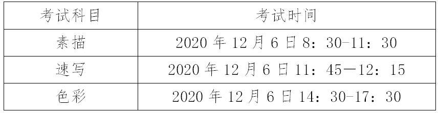 关于广东省2021年艺术类专业术科统一考试时间部署的通知